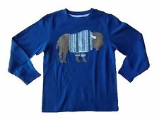 NWT Boy's Gymboree All Spruced Up buffalo blue long sleeve shirt ~ 6 7 8