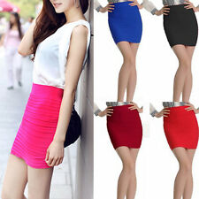 Lady Sexy Candy Colors Mini Skirt Slim Seamless Stretch Tight Fitted Pretty New