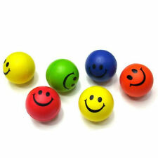 12x Smiley Face Bouncy Squeeze Foam Sponge Ball PU Autism Mood Stress Relief Toy