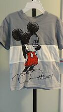 NWT Disney Mickey Mouse Gray/White Color Block Short Sleeve Toddler Tee: 2T -4T