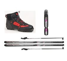 New Whitewoods Junior NNN Cross Country Package Waxless Skis Boots Poles 137cm