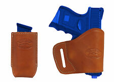 New Barsony Tan Leather Yaqui Holster + Mag Pouch Springfield Compact 9mm 40 45