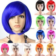 100% Brand New Short BOB Full Head Wig Cosplay Costume Party Fancy Dress Red C54