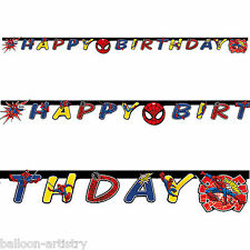 Marvel Ultimate Spider-Man Children's Birthday Party Letter Banner Decoration