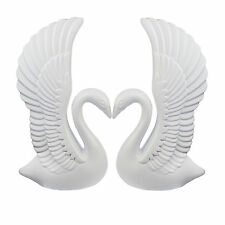 White Elegant Plastic Swans AND Roman Wedding Columns Prop Set