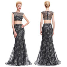 Mermaid New Women Long Wedding Sequined Gown Evening Prom Party Bridesmaid Dress