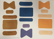 100 First Aid Plasters Assorted Sizes Sterile Blue Catering Washproof Fabric