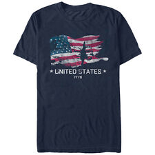 Lost Gods 4th of July United States 1776 Flag Mens Graphic T Shirt