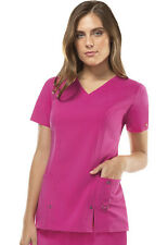 Scrubs Dickies Xtreme Stretch V- Neck Top 82851 Hot Pink FREE SHIPPING