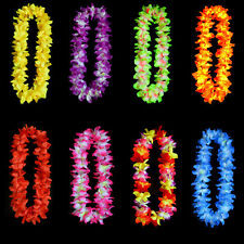 Hawaiian Flower leis Garland Necklace Colorful Party Hawaii Beach 8 Colors  9c