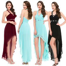 Long Women High-Low Chiffon Cocktail Bridesmaids Dress Evening Prom Party Dress
