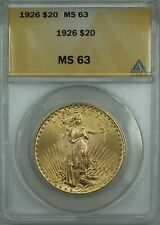 1926 $20 Dollar St. Gaudens Double Eagle Gold Coin ANACS MS-63 BP