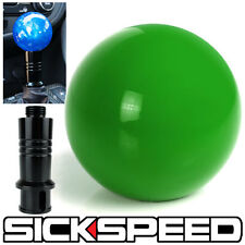 GREEN GUMBALL SHIFT KNOB & AUTO/AUTOMATIC ADAPTER FOR GEAR SHIFTER KIA