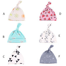 Newborn Baby Floral Cap Infant Boy Girl Cotton Beanie Toddle Kids Knotted Hat
