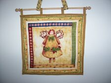 Handmade wall hanging applique & quilted end cap dowel & tie  U pick style