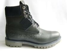 Classic Timberland 6 Inch Dark Navy Blue Mens Genuine Leather Boots Waterproof