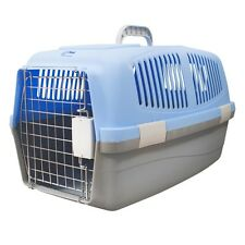 RIGID PLASTIC PET CARRIER WITH METAL GRILLE