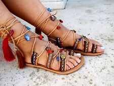 "Ethnic Sandals, Leather Sandals, Gladiator sandals, Greek Sandals, ""Kalypso"" 1"