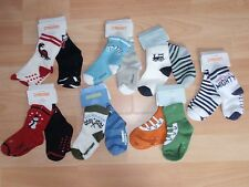 NWT BOYS GYMBOREE SOCKS SZ 6-12 MONTHS, CONSTRUCTION, MIGHTY, DINO, RACER, SURF