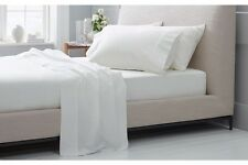 1000TC Egyptian Cotton WATERBED SHEET SET Sateen Solid White