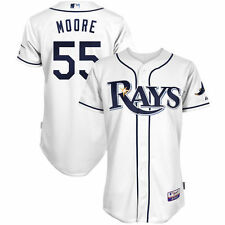 Majestic Matt Moore Tampa Bay Rays White Home 6300 Player Authentic Jersey