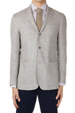CORNELIANI New with Tag Men Beige Linen Wool Two Button Jacket Blazer Made Ita