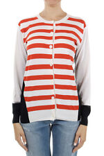 STELLA MCCARTNEY Women silk virgin wool striped cardigan sweater made in italy