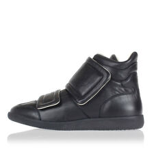 MARTIN MARGIELA MM22 Men Black Leather High Velcro Sneakers Italy Made