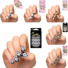 Acrylic Designer Nail Tips False French Full Nails Art Fake Nail Tips 24pcs/Set
