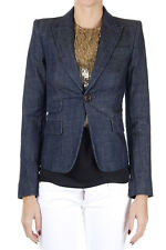 DSQUARED2 Dsquared² Women blue stretch denim blazer jacket Made In Italy
