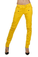 BALMAIN Women New Yellow Colored Denim Jeans Trousers Pants with Tags Original