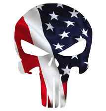 "Punisher Skull American Flag Decal Sticker Multiple Sizes 3"" to 24"" !!! USA"