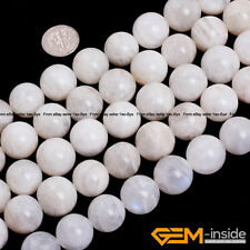 """Natural Rainbow Moonstone Round Beads For Jewelry Making 15"""" 6mm 8mm 10mm 12mm"""