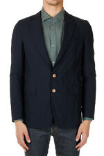DRIES VAN NOTEN Men Blue Unlined Cotton BURLEY Blazer Jacket New with Tag