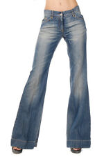 DOLCE & GABBANA Women Denim Blue Flared Jeans Made in Italy New with Tag
