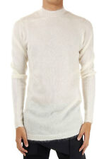 RICK OWENS Men Sweater ASTAIRE white silk mohair blended Made In Italy