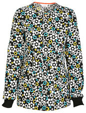 Scrubs Code Happy Snap Front Warm-up Jacket It's Flower Never 46303A  ITFW