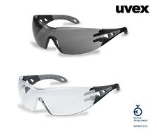 NEW Uvex Pheos Safety Glasses * Black Frame * No Metal Parts *