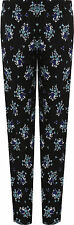 Womens Floral Full Length Trousers Ladies Print Elasticated Waist Pants