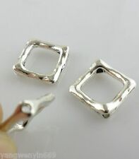 40/300pcs Tibetan silver square Spacer Beads 12*16mm