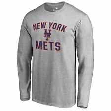 New York Mets Ash Victory Arch Long Sleeve T-Shirt