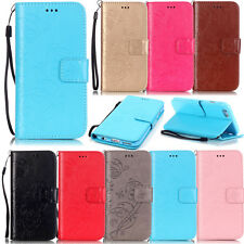 cell phone case PU leather wallet cover stand flip folio card pocket+strap TPU