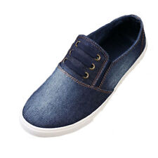 New Mens Autumn Demin Shoes Slip On Leisure Outdoor Lace-up Canvas Espadrilles