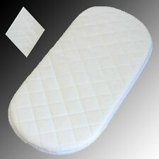 Baby Pram Moses Basket Foam Bassinet Mattress Fully Breathable Quilted UK Made