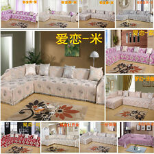 Luxury Cotton/Chenille 1 2 3 4 Seater Sofa Towel L-shaped Sofa Couch Slip Cover