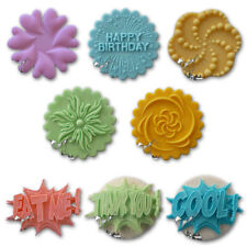 Alphabet Moulds Cupcake Toppers Plaques Decorative Happy Birthday Wedding Fun