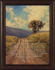 LIVING LIFE by Bonnie Mohr 22x28 FRAMED PICTURE Inspirational Tree Dirt Road