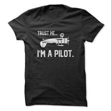 Trust Me, I'm a Pilot - Funny Airplane Flying T-Shirt 100% Cotton NEW