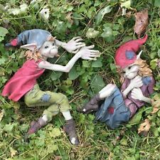 FABULOUS SET OF 2 GARDEN PIXIE WALL PLAQUES ORNAMENT ELF FAIRY NEW BOXED 39116