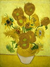 Fifteen Sunflowers by Vincent Van Gogh Stretched Canvas Art Print *Assorted*